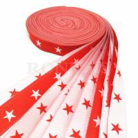 China Wholesale custom logo 1-1/2  inch 100% polyester woven tape woven ribbon for garment accessories on sale