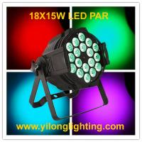 China 18X15W RGBAW aluminum par light,5 in 1 high power dmx stage light,party disco light,wedding hanging up light on sale