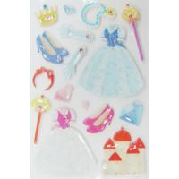 Wholesale Lovable 3D Princess Kawaii Puffy Stickers For Mobile Phone Rotary Printing Type from china suppliers