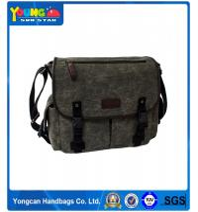Koren fashion Army green Mens Canvas Laptop Book School Single Strap Messager Shoulder Bag china wholesale