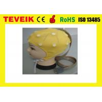 Buy cheap Reusable 20 Leads Yellow EEG Skull Cap With Tin Electrode ,CFDA Standard from wholesalers
