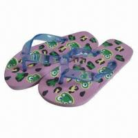 Wholesale Cute Design Flip Flops for Kids, Made of PVC Upper and PE Outsole from china suppliers