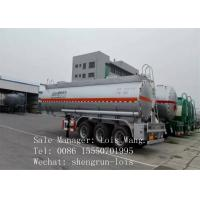 Three Axle Transportation Fuel Tanker Trailer With 40CBM Nominal Capacity