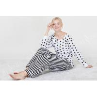 Wholesale Comfortable Dotted Womens Pyjama Sets Long Sleeve Top And Pants Soft Handfeel from china suppliers