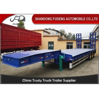 Buy cheap 3 Axles 13M Excavator Transport Low Bed Semi Trailer from wholesalers