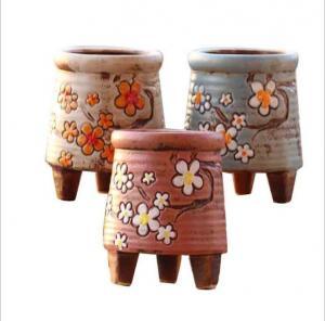 China Korean garden pot flower decor hand-painted ceramic flower pots on sale