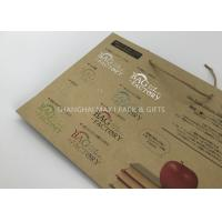 Wholesale Carrier Branded Brown Paper Gift Bags Printed With Logo Personalised Custom Made from china suppliers