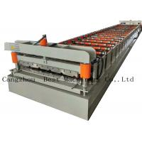 China Galvanized Metal Steel Roof Panel Roll Forming Machine Production Line on sale