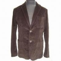 Wholesale Men's Leisure Coat, Made of Stretched Cotton Corduroy, Comfortable to Wear from china suppliers