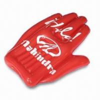 Wholesale 41 x 80cm Inflatable Hand, Made of PVC, Suitable for Promotional Purposes from china suppliers