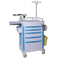 Quality ABS Utility Equipment Emergency Crash Cart Furniture OEM Design With Trash Can for sale