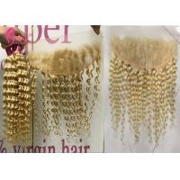 Buy cheap Lace Frontal Closure 613 Blonde Weave 100% Deep Wave Curly Human Hair from wholesalers