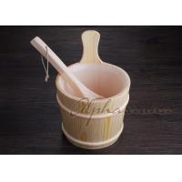 Buy cheap 3 L Nordic Type spa Bucket With Ladle For Traditional Sauna Room from Wholesalers