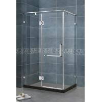 Wholesale 90 Degree Magnetic Seals Shower Screens Tempered Glass SS Support Bar and Hinge Swing Door from china suppliers