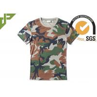 Woodland Army Military Police T Shirts With 100%Polyester Bamboo Material