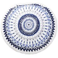 Buy cheap summer round beach towels customize design with low MOQ low price from Wholesalers