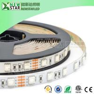 Wholesale SMD5050 RGB Led Strips 30/60/72/96/120/144/240leds full color DMX 5050 12v 24v 5050SMD rgb led strip lights for KTV bar from china suppliers