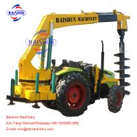 Wholesale Electrical Works Garden Tractor Post Hole Digger , 3 Point Hitch Post Hole Digger from china suppliers