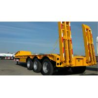 Wholesale 3 Axles Gooseneck Low Bed Trailer Transporter 70 Ton For Heavy Excavator Wheelloader from china suppliers
