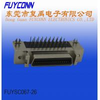 Buy cheap Female Right Angle PCB Type SCSI 36 Pin Connector With Board Lock from wholesalers