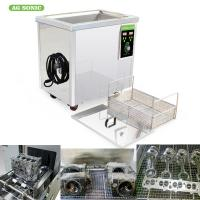 Wholesale Digital Timer Heater Adjustable Industrial Ultrasonic Cleaning Tanks 38l Metal from china suppliers