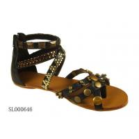 Wholesale Classical Ladies Studs Trim Gladiator Sandals from china suppliers