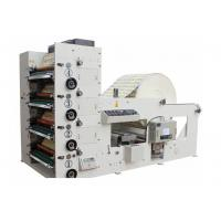 China Automatic High Speed 4 Color Flexo Printing Machine 50-60m/min Max width 850mm White on sale