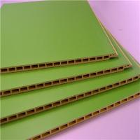 Wholesale Green Color PVC Wall Cladding / Panel , Interior Wood Plastic Composite Board from china suppliers