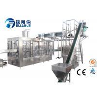 Wholesale Rotary / Gravity Apple Juice Filling Machine Glass Bottle Hot Filling Line 24 Heads 4.8kw from china suppliers
