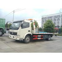 Wholesale 4X2 Flatbed Tow Truck 160HP 5300mm Platform Length Multi - Functional from china suppliers