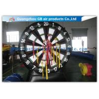 Wholesale Giant Inflatable Sports Games Target Shoot / Inflatable Dart Board with Fastener Darts from china suppliers