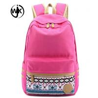 China Cheap custom factory canvas bag high quality durable lady backpack new design colorful canvas backpack on sale