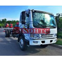 China 8 - 12 Tons Cargo Transport Truck 6 Wheelers Truck Chassis For Refitting Cargo / Tank Truck on sale