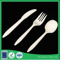 Wholesale Healthy and Eco-friendly corn starch biodegradable disposable dinner knife, spoon, fork from china suppliers