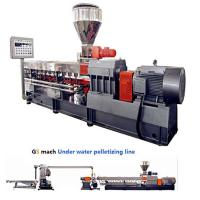 Buy cheap 300 - 400 Kg / H Double Screw Extruder Machine With Under Water Pelletizing System from wholesalers