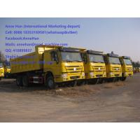 Wholesale 50T 20M3 371 HP 12 Wheels Yellow Heavy Duty Dump Truck low fuel consumption Q345 Carbor steel Bucket from china suppliers