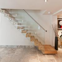 Wholesale Wooden stair Glass Staircase / Build Floating Stair from china suppliers