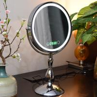 Wholesale Metal Double Sided Rotatable Led MakeUp Mirror Iron With Chrome Plated from china suppliers
