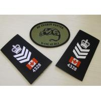 China Exclusive Epaulette Custom Embroidered Patches For Luggage Case on sale