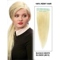 Wholesale Fashional 10 to 30 inch 100% Human Hair  White Blond Silky Straight Clip in Hair Extension from china suppliers