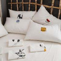 Wholesale Simple style cartoon organic cotton clear embroidery pillow case custom from china suppliers