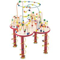 Wholesale Chicken Colorful beads wooden Rack toys from china suppliers