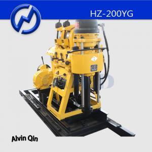 China Hydraulic water drilling rig diamond core drilling rig HZ-200YG mobile drilling rig on sale