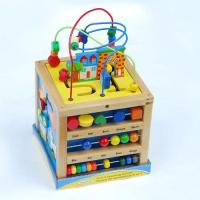 Wholesale Happy Sea horse Colorful beads wooden Rack toy from china suppliers