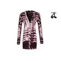 Wholesale V Neck Women's Knit Cardigan Sweaters Long Sleeve With Shell Button On from china suppliers