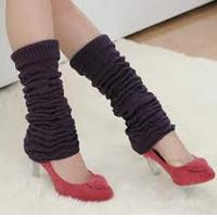 Wholesale Purple Knitted Leg Warmer , Anti - Pilling Adult Leg Warmers from china suppliers