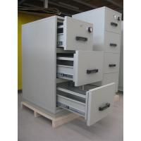 Wholesale Grey Steel 4 Drawers Fire Resistant Filing Cabinets For Valuable Records / Documents from china suppliers