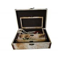 Wholesale Decorative Mahogany / Chestnut / MDF Wooden Storage Boxes For Clothing , Offset / UV Printing from china suppliers