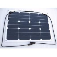 Wholesale 30W Electric Car / Roof Flexible RV Solar Panels Aerodynamic Durable from china suppliers