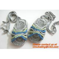 Wholesale Summer Crochet Baby Boys Girls Sandal Slipper First Walker Shoes Newborn Infant Striped from china suppliers